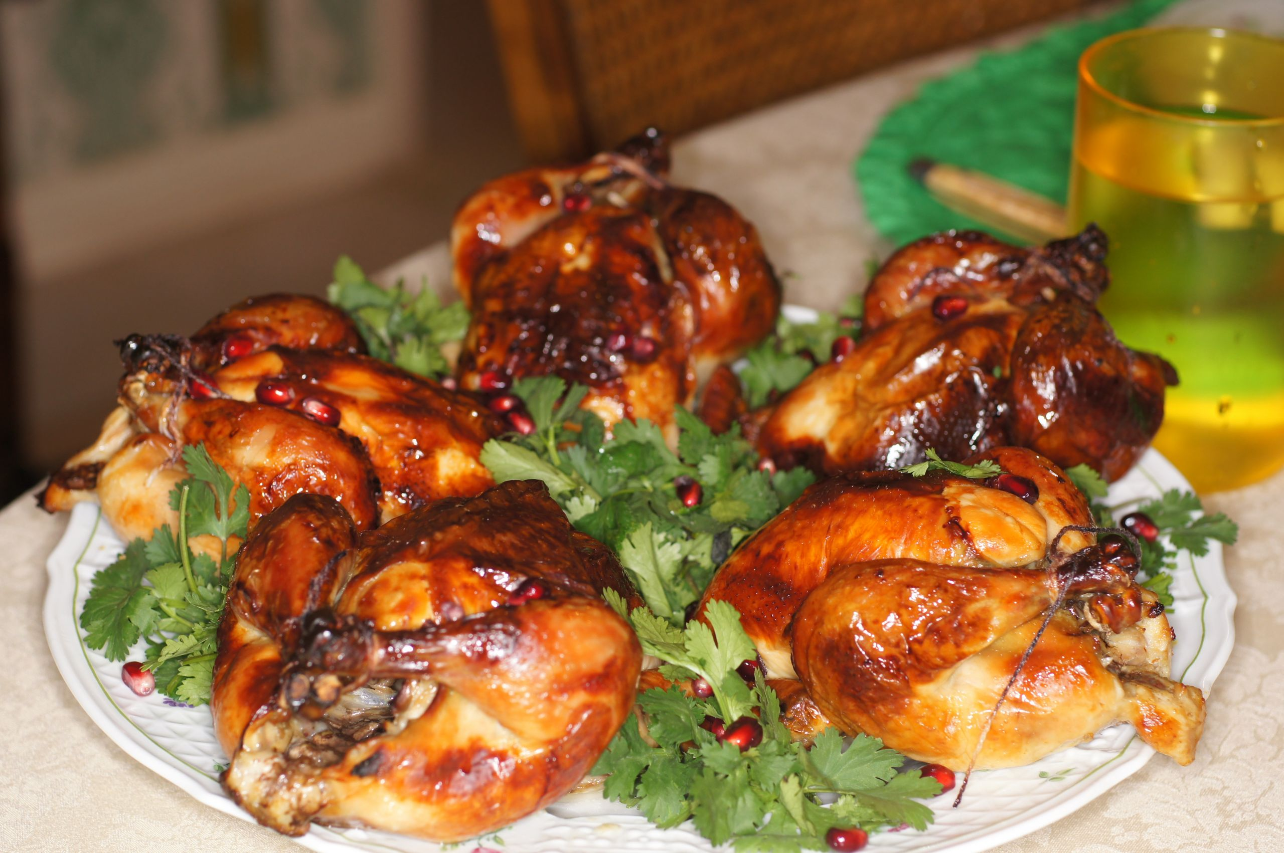 Recipes For Cornish Game Hens  Roasted Brined Cornish Game Hens with Pomegranate Sauce