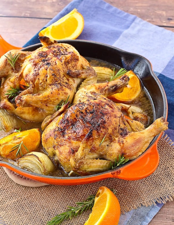 Recipes For Cornish Game Hens  Cornish Game Hen Recipe with Orange Rosemary and Sherry