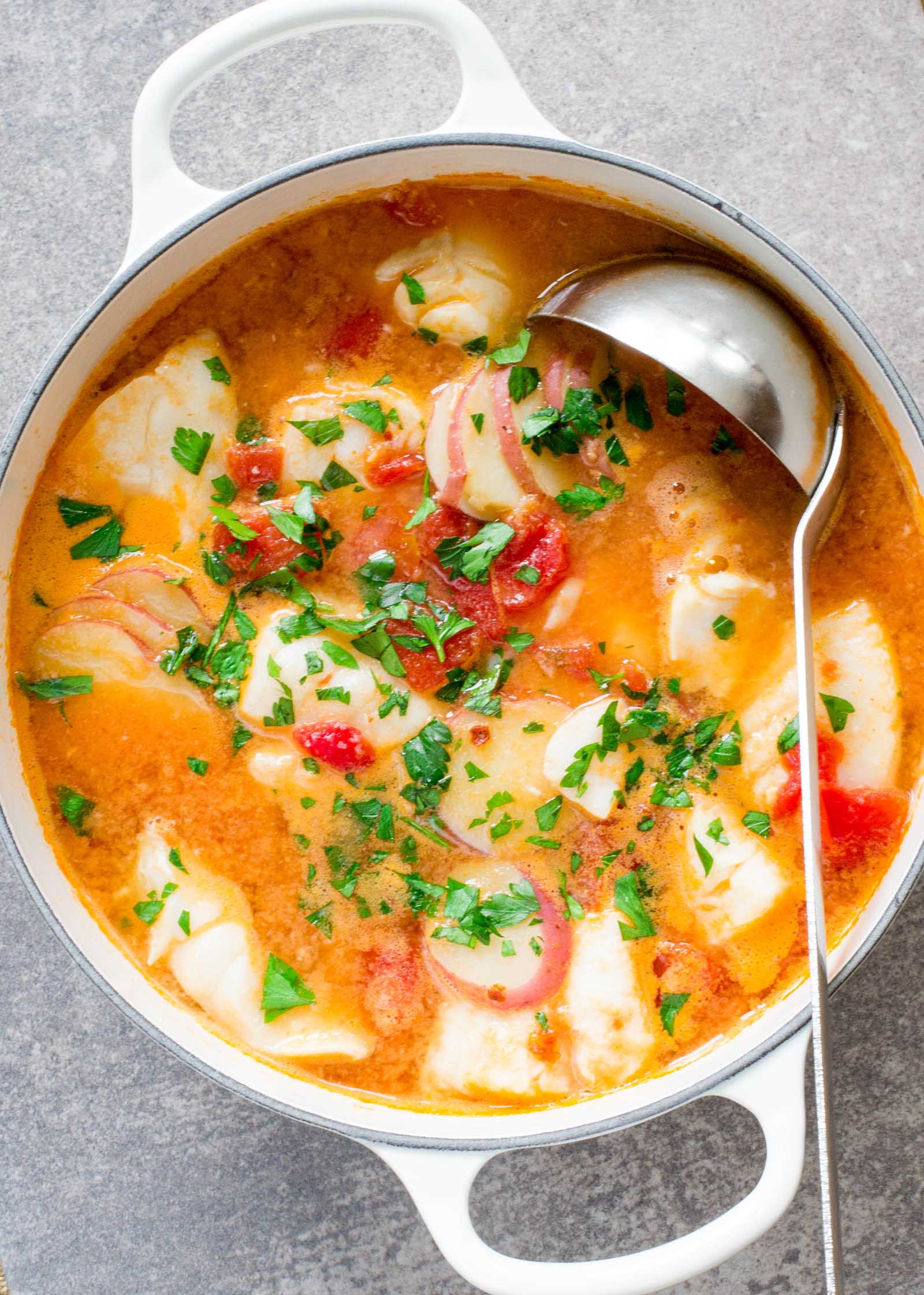 Recipes For Fish Stew  Fish Stew with Ginger and Tomatoes Recipe