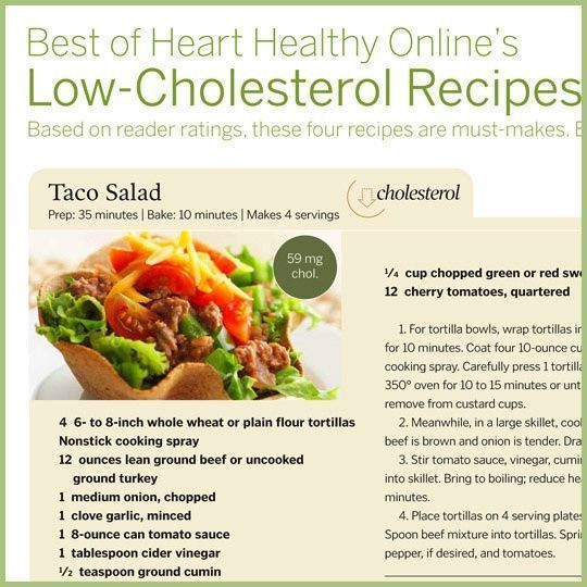 Recipes For Low Cholesterol Diet  Low Cholesterol Recipes