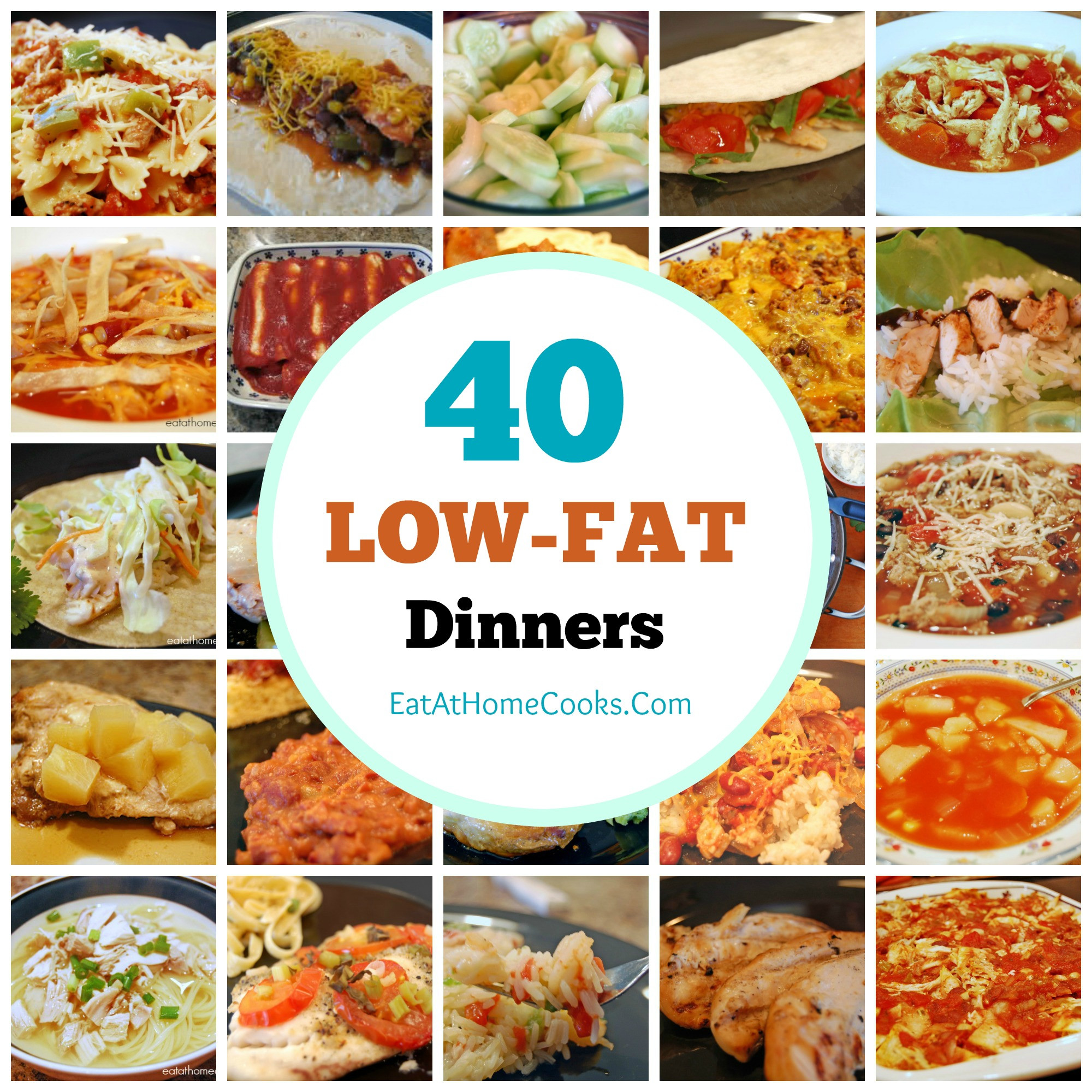 Recipes For Low Cholesterol Diet  My Big Fat List of 40 Low Fat Recipes Eat at Home