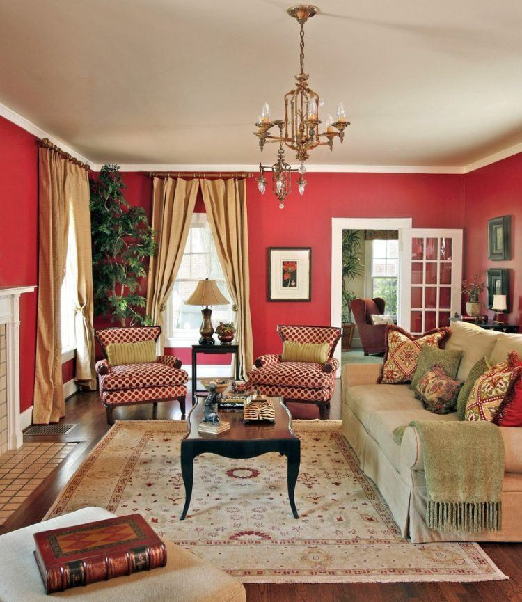 Red Curtains For Living Room  10 Red Living Room Ideas and Designs