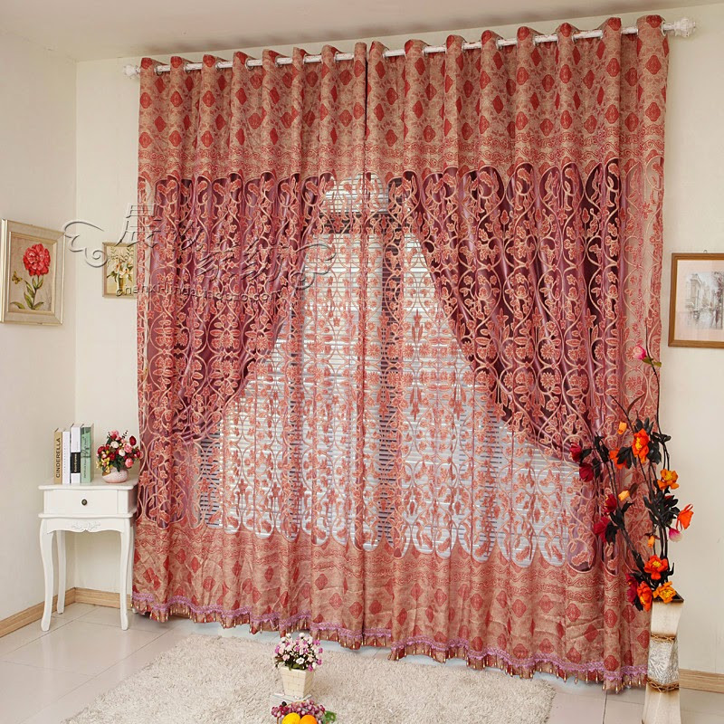 Red Curtains For Living Room  Red Curtains and Window treatments in the interiors living