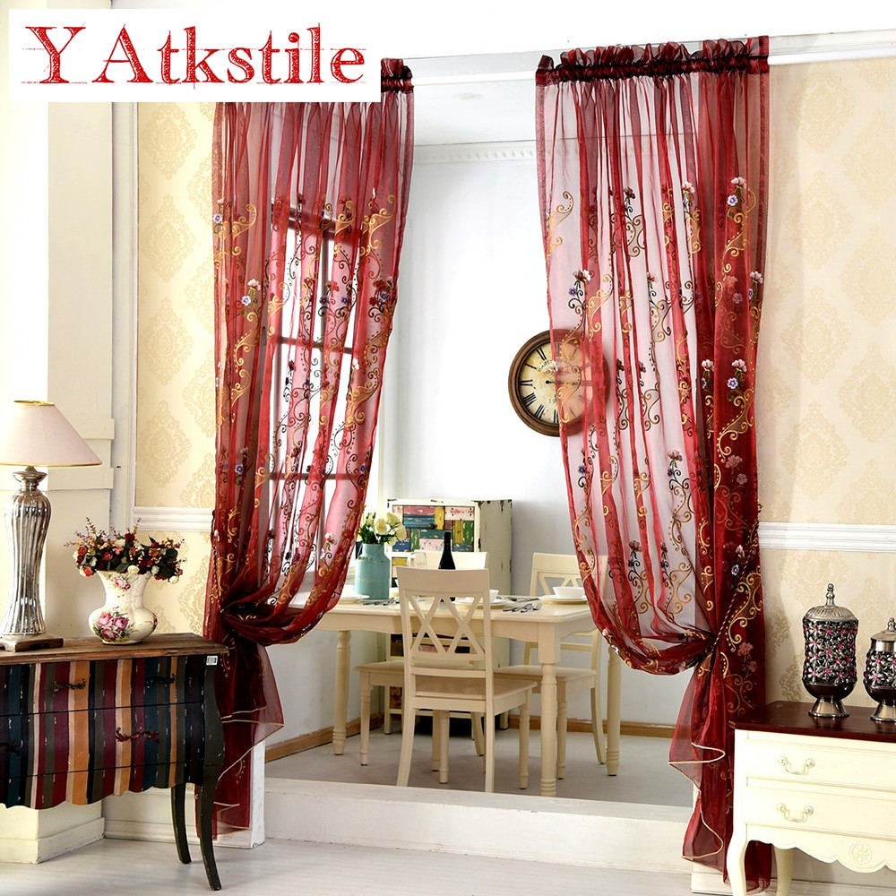 Red Curtains For Living Room  YAtkstile Curtains for Living Room blue red curtains Shade