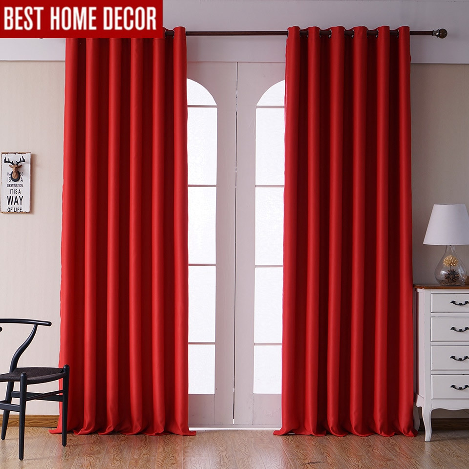 Red Curtains For Living Room  Aliexpress Buy Modern blackout curtains for living