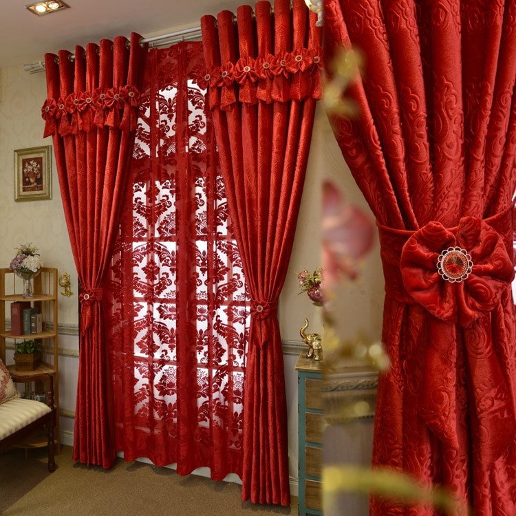 Red Curtains For Living Room  Brand New Custom Made Luxury Italian Wool Curtains Living