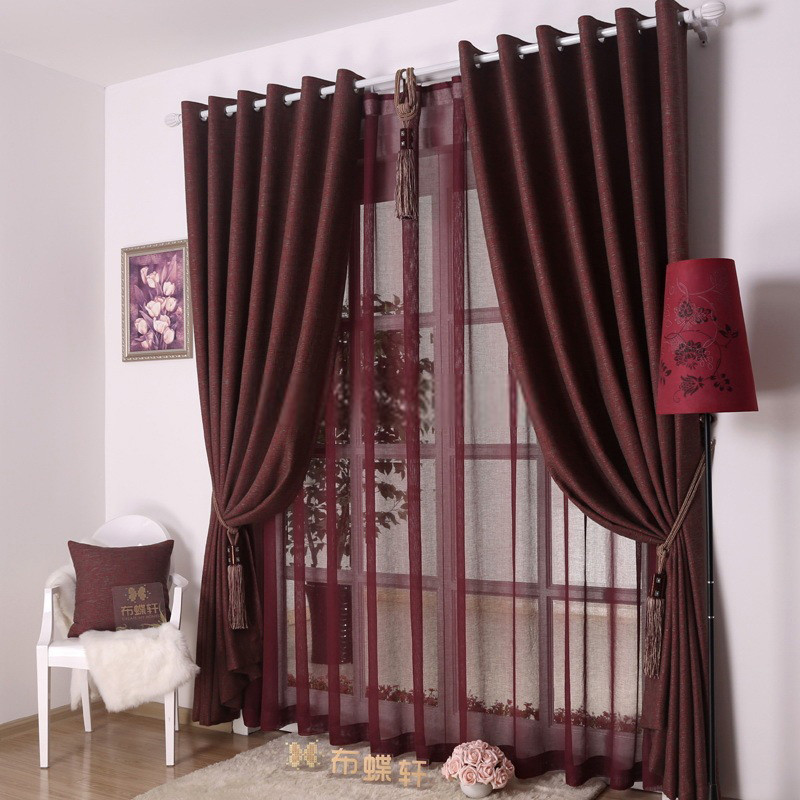 Red Curtains For Living Room  Bedroom or Living Room Decorative Dark red curtains