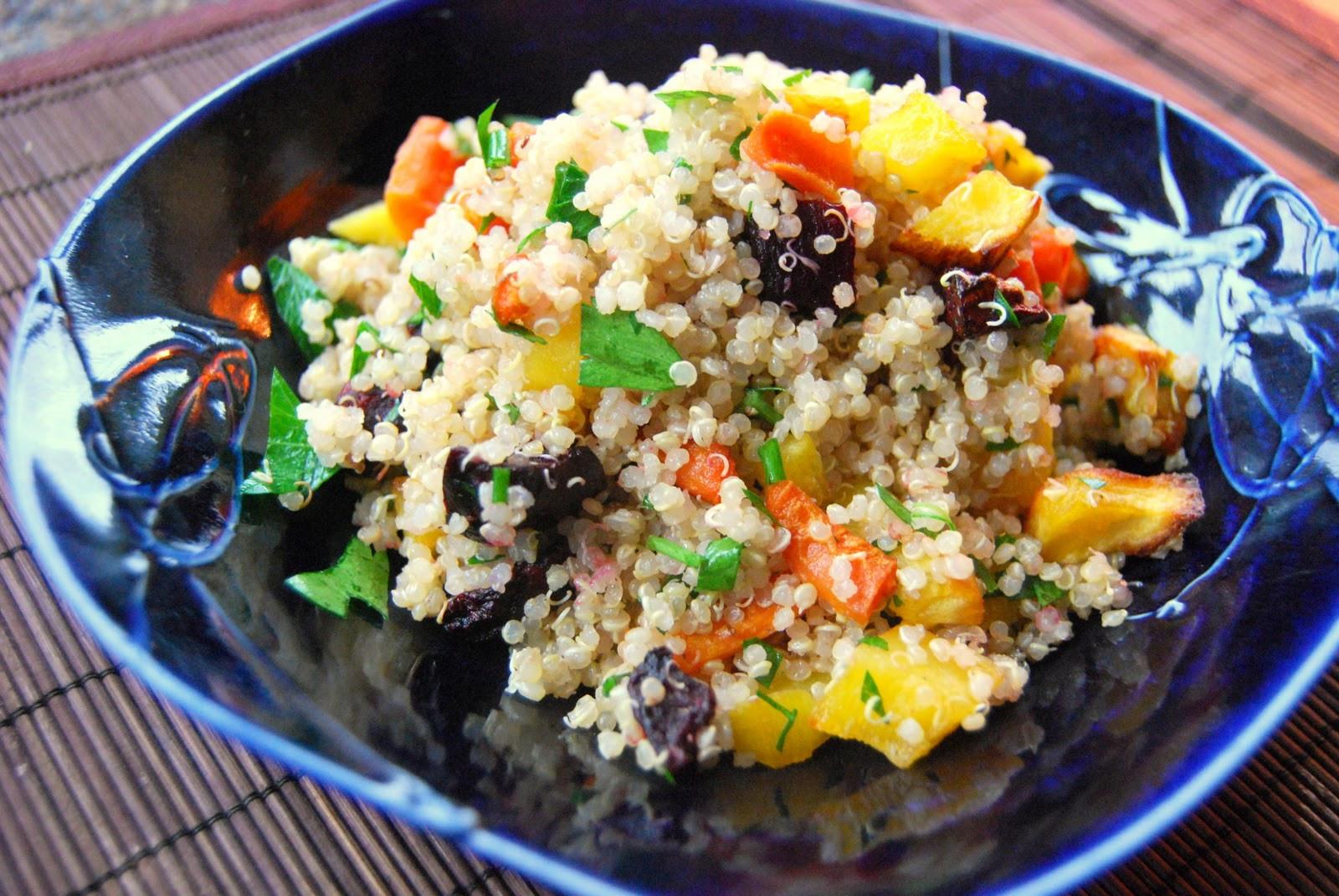 Roasted Vegetable Quinoa Salad  Kirsten s Kitchen of vegan creations Roasted autumn