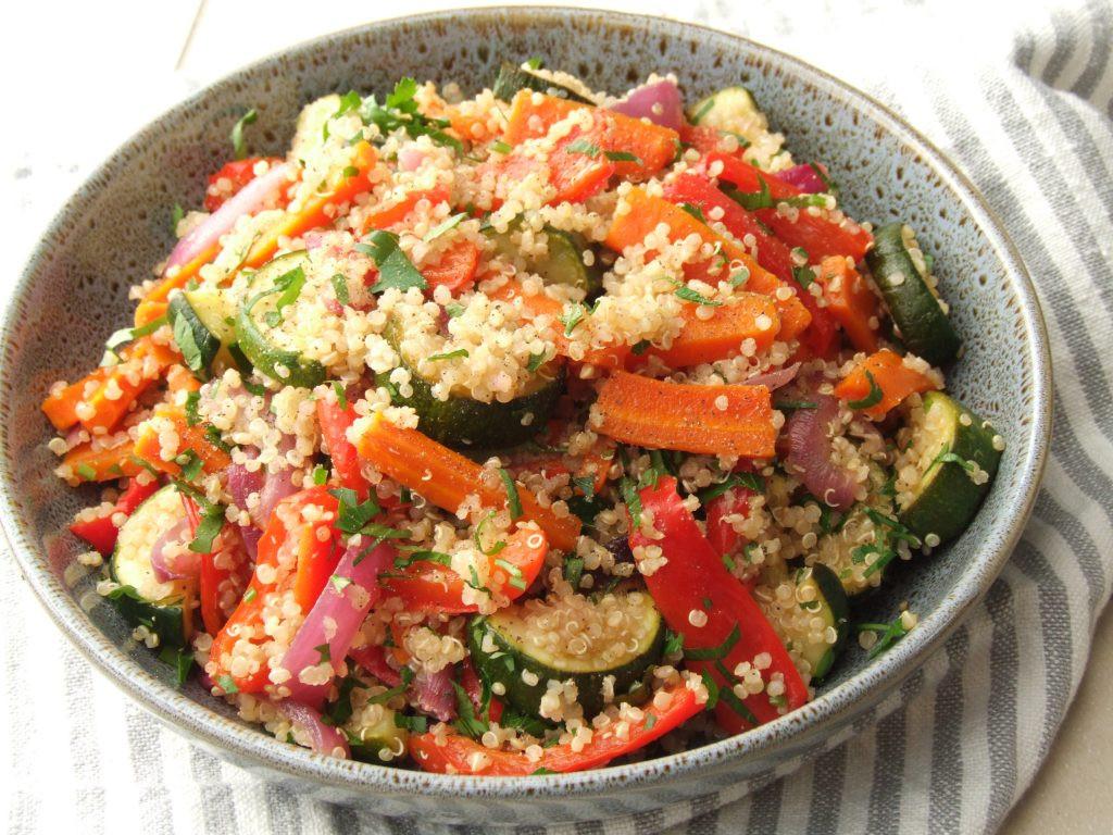Roasted Vegetable Quinoa Salad  Roast Ve able Quinoa Salad