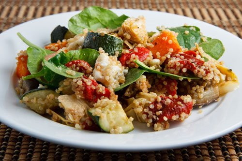 Roasted Vegetable Quinoa Salad  Roasted Ve able Quinoa Salad on Closet Cooking