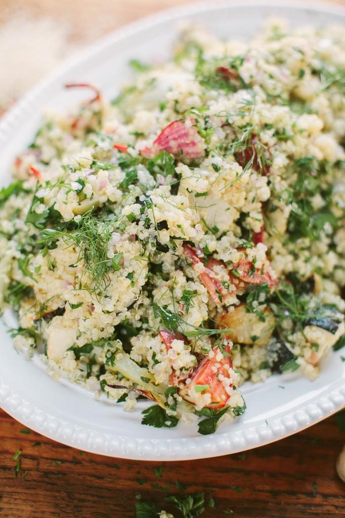 Roasted Vegetable Quinoa Salad  Roasted Ve able Quinoa Salad Recipe — Dishmaps
