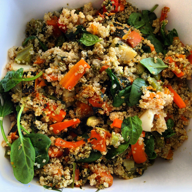 Roasted Vegetable Quinoa Salad  Roasted ve able quinoa salad with pesto
