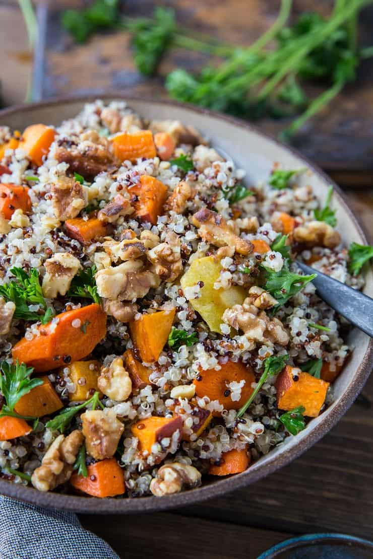 Roasted Vegetable Quinoa Salad  Roasted Winter Ve able Quinoa Salad with Cider
