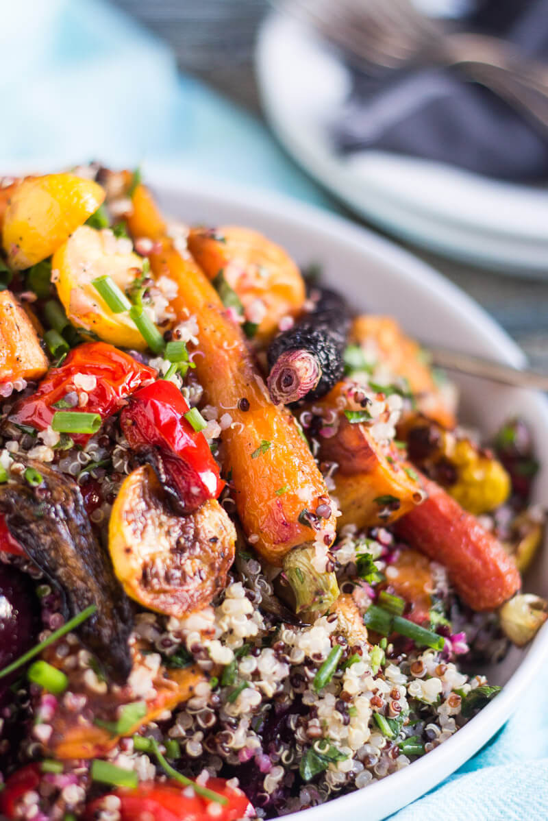 Roasted Vegetable Quinoa Salad  Roasted Ve able and Quinoa Salad Easy Peasy Meals