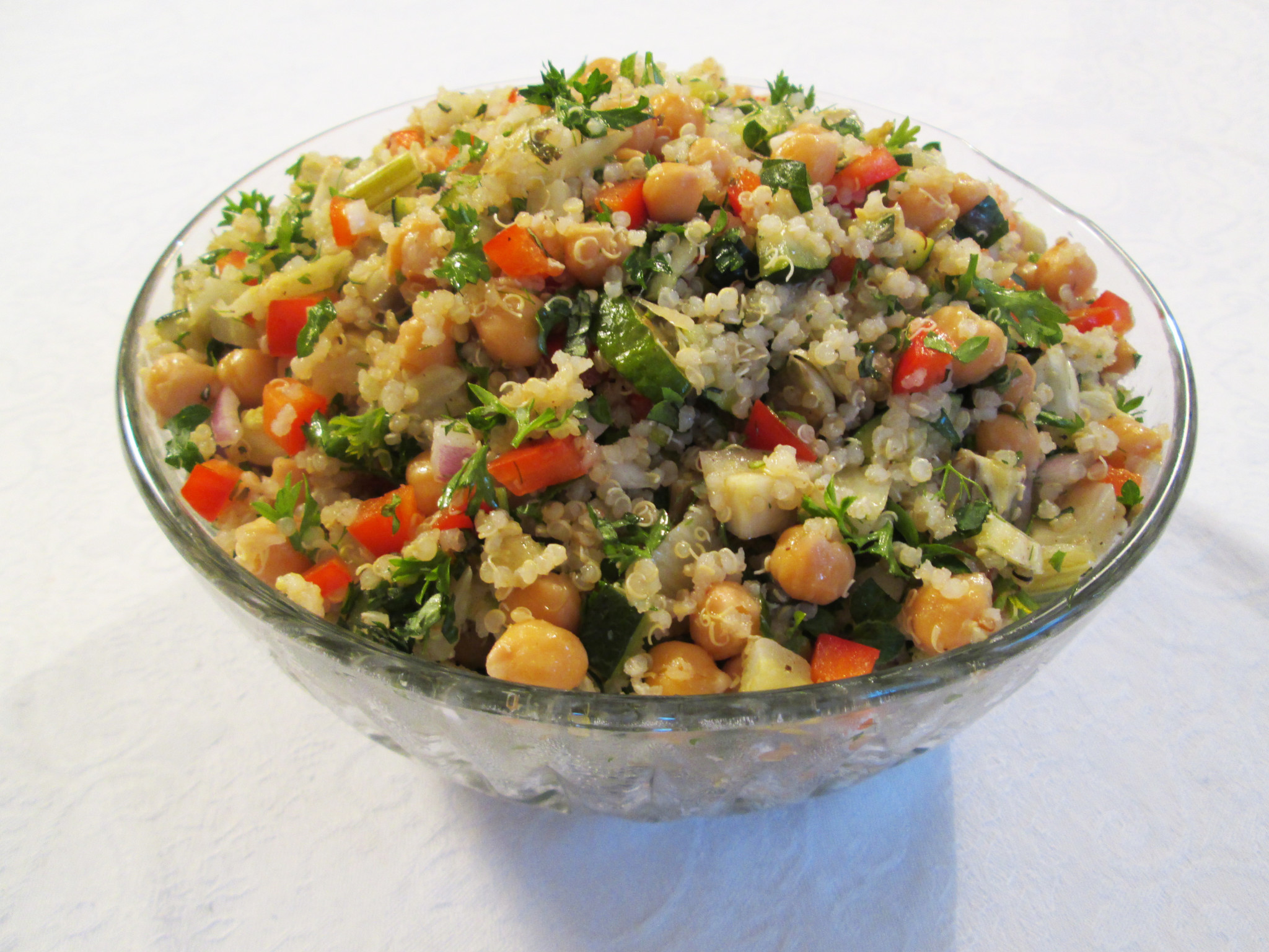 Roasted Vegetable Quinoa Salad  Chickpea Quinoa Salad with Roasted Ve ables Recipe