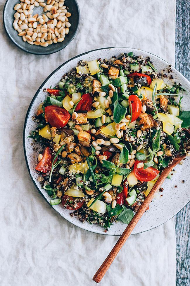 Roasted Vegetable Quinoa Salad  Mediterranean Quinoa Salad with Roasted Veggies