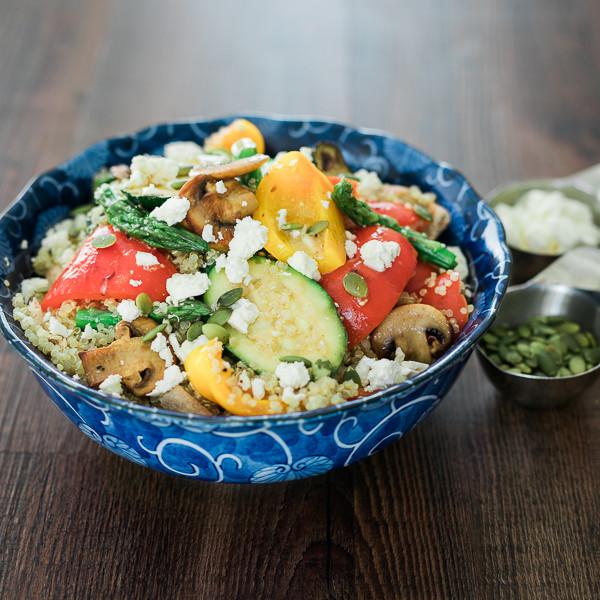 Roasted Vegetable Quinoa Salad  Roasted Ve able Quinoa Salad – My Viva Inc