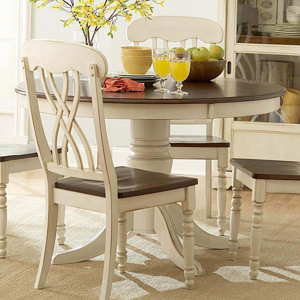 Round White Kitchen Table Sets  Ohana White Round Dining Table