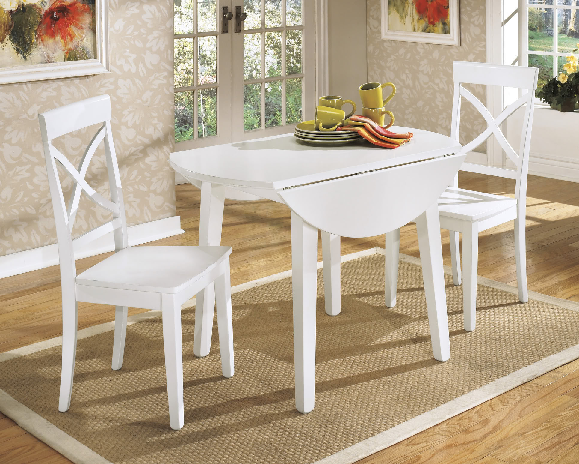 Round White Kitchen Table Sets  White Round Kitchen Table and Chairs Design – HomesFeed