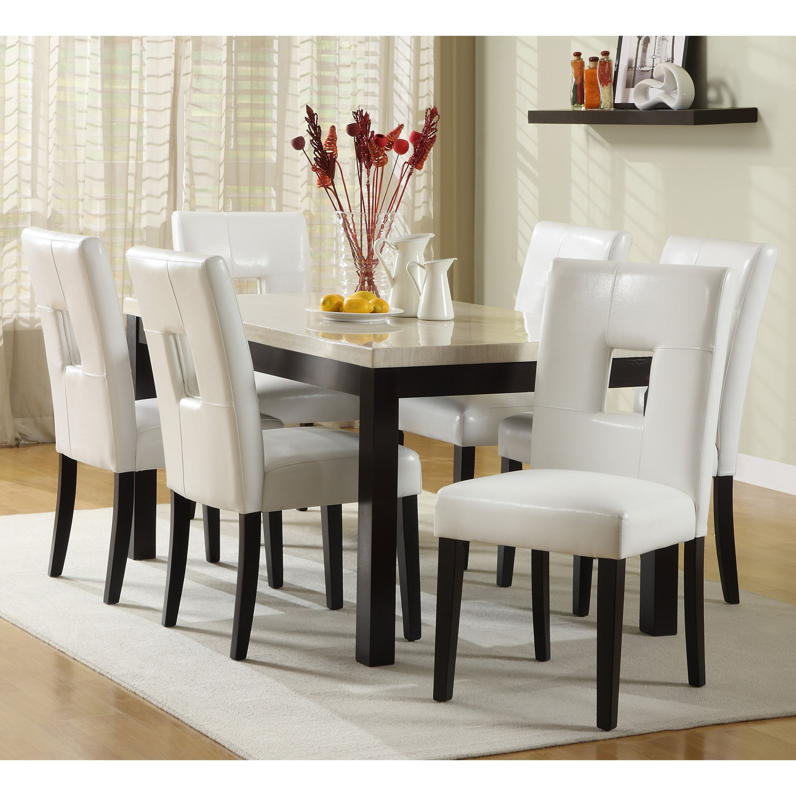 Round White Kitchen Table Sets  Beautiful White Round Kitchen Table and Chairs