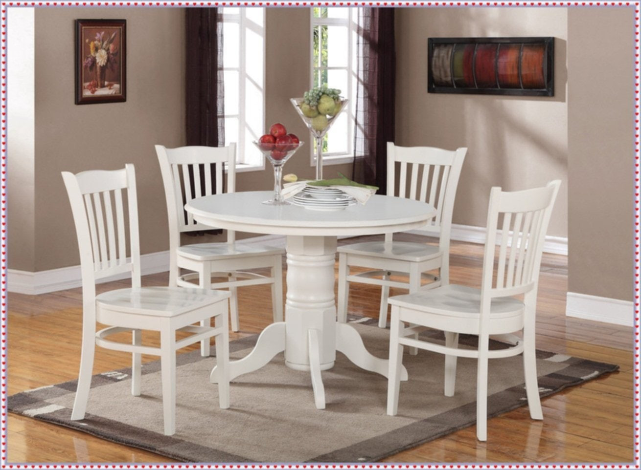 Round White Kitchen Table Sets  New Ideas Round Kitchen Table Sets – Loccie Better Homes