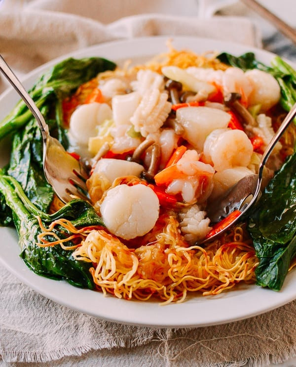 Seafood Pan Fried Noodles  Seafood Pan Fried Noodles Like the Restaurants Do It