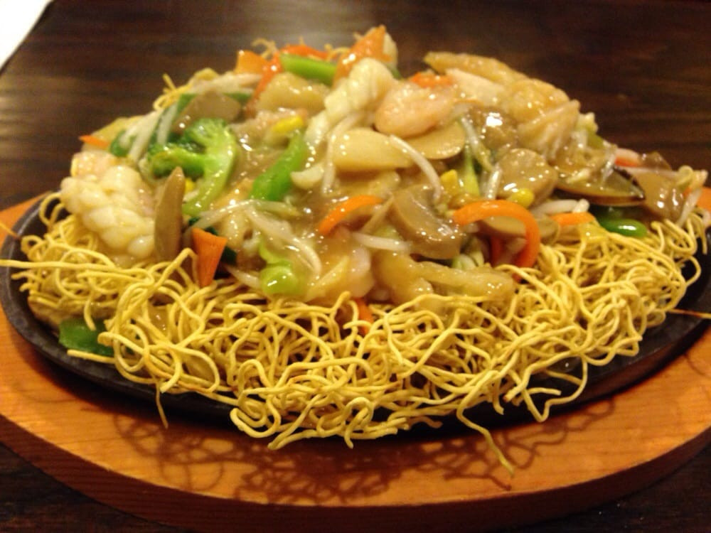 Seafood Pan Fried Noodles  Sizzling Seafood Pan Fried Noodles Yelp