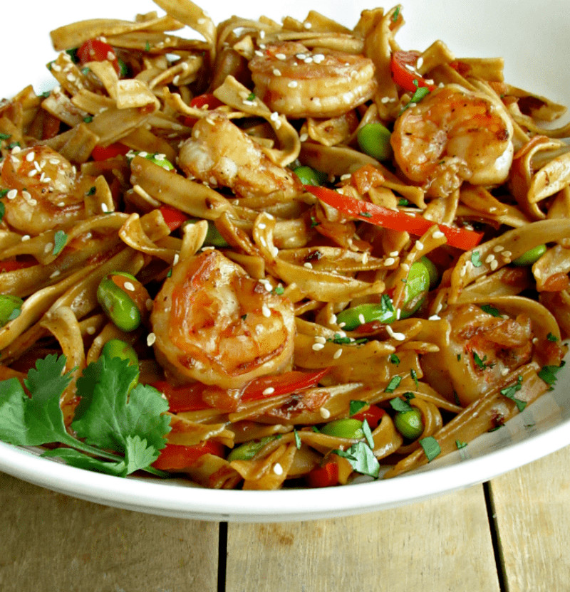 Seafood Pan Fried Noodles  Asian Pan Fried Noodles with Shrimp from A Gouda Life kitchen