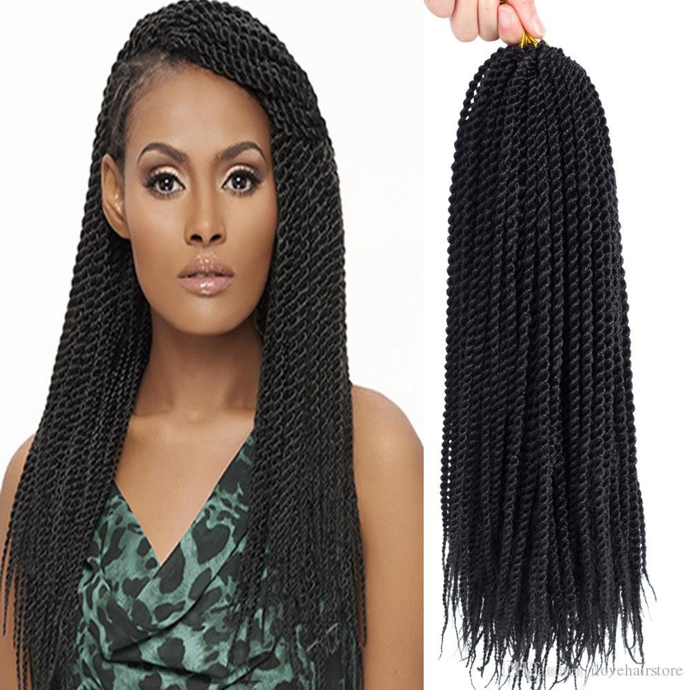 Senegalese Crochet Braids Hairstyles  2019 22 Senegalese Twist Crochet Hair Braids Small Havana