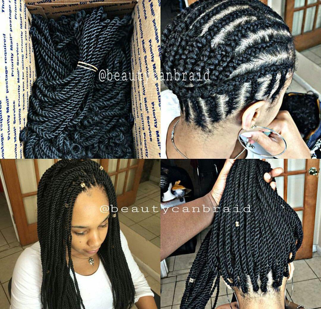 Senegalese Crochet Braids Hairstyles  Crocheted Senegalese twist