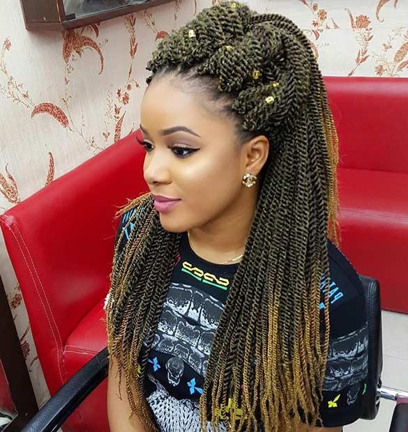 Senegalese Crochet Braids Hairstyles  31 Stunning Crochet Twist Hairstyles