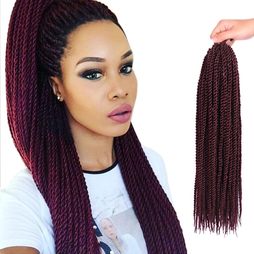 "Senegalese Crochet Braids Hairstyles  Amazon Befunny 8Packs 18"" Senegalese Twist Crochet"