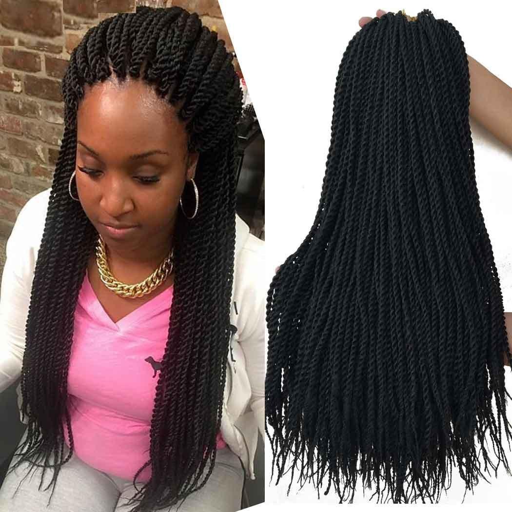 Senegalese Crochet Braids Hairstyles  Amazon 18 Inch 8Packs Senegalese Twist Hair Crochet