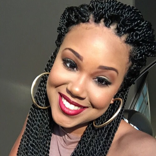 Senegalese Twist Crochet Hairstyles  50 Sensational Styling Ideas for Senegalese Twists