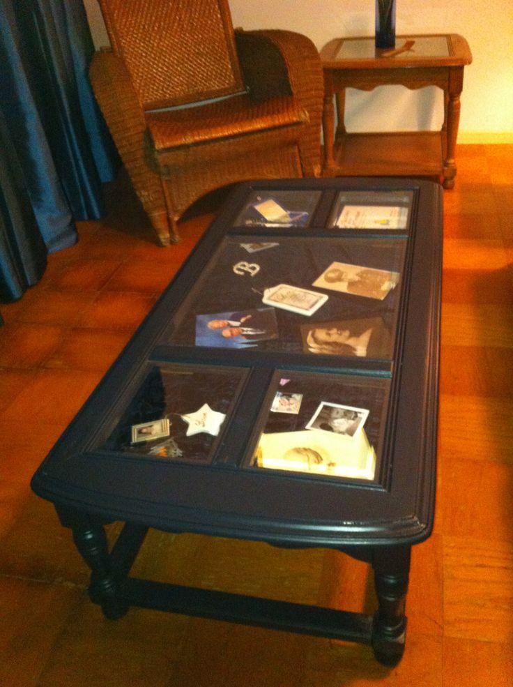 Shadow Box Coffee Table DIY  Shadow box coffee table plete