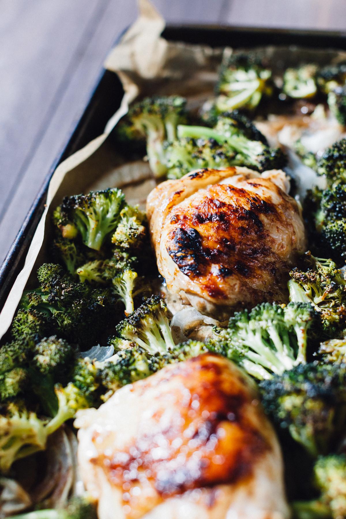 Sheet Pan Boneless Chicken Thighs  e Sheet Pan Balsamic Chicken with Roasted Broccoli