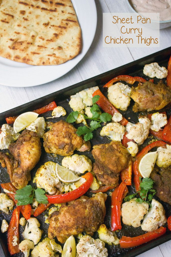 Sheet Pan Dinners Chicken Thighs  Sheet Pan Curry Chicken Thighs recipe We are not Martha