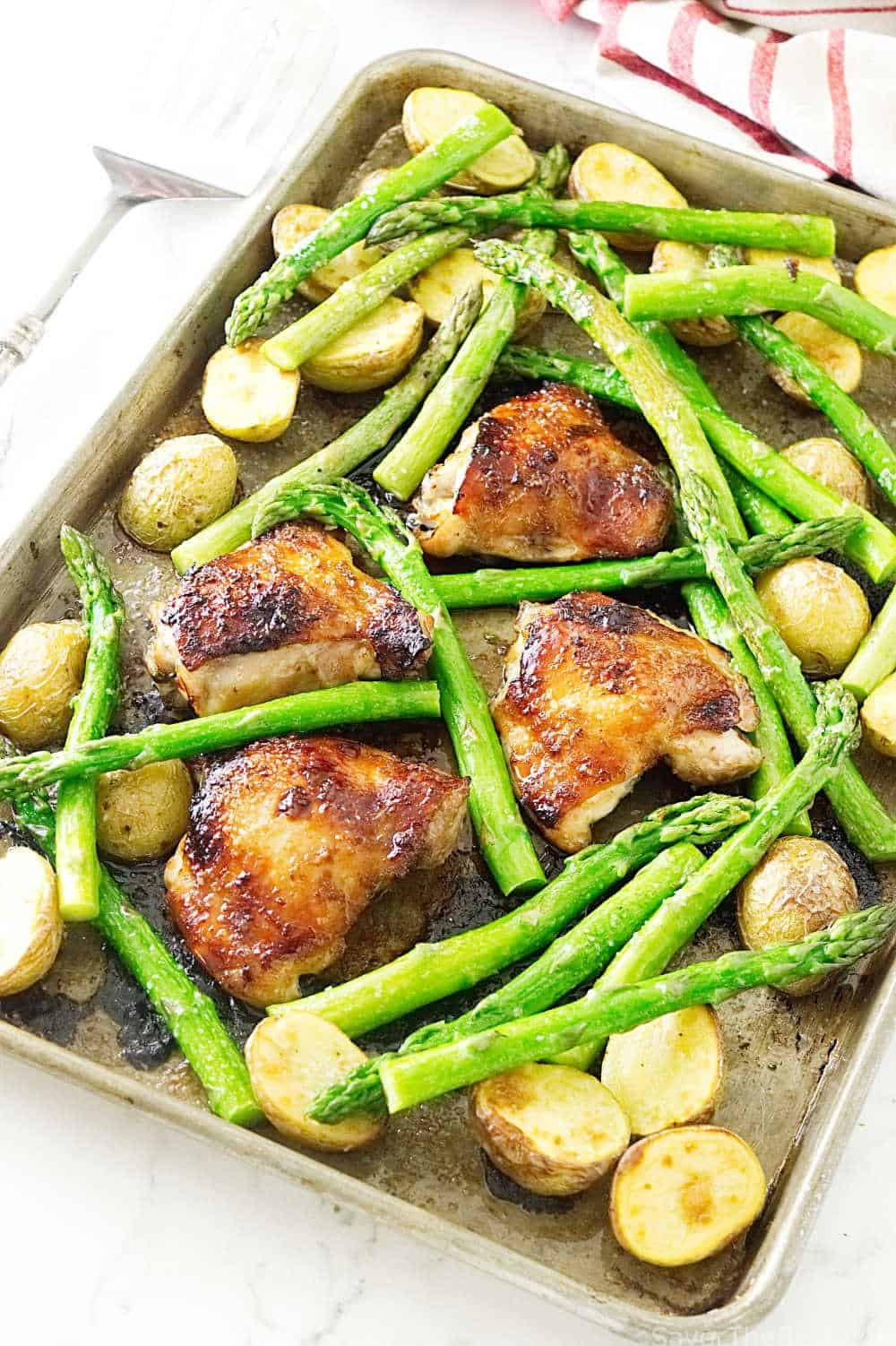Sheet Pan Dinners Chicken Thighs  Sheet Pan Chicken Dinner with Potatoes and Asparagus