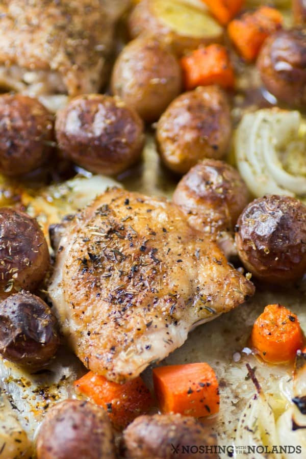 Sheet Pan Dinners Chicken Thighs  Roasted Sheet Pan Chicken Thighs are simple to make yet