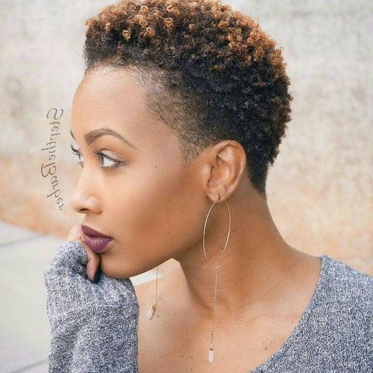 Short Tapered Natural Hairstyles  20 Best Ideas of Natural Short Haircuts
