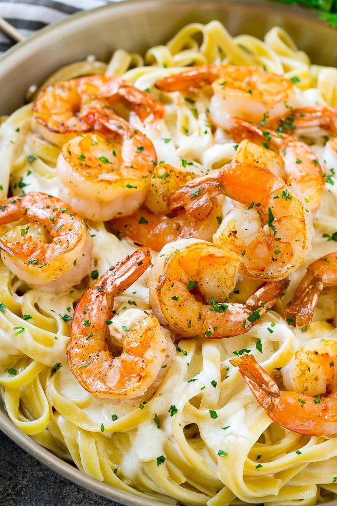 Shrimp Spaghetti Alfredo  Shrimp Alfredo Pasta Recipe From Scratch