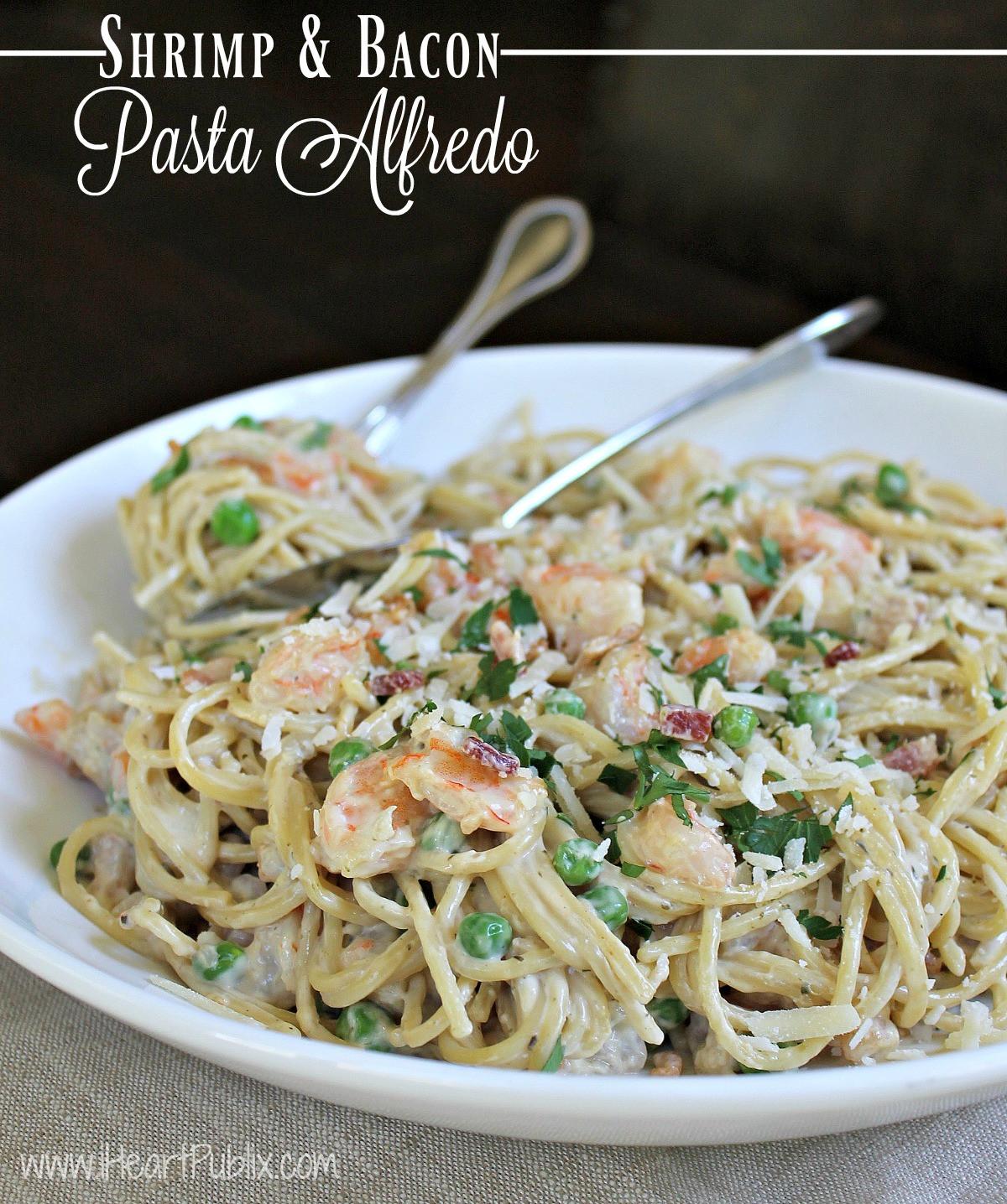 Shrimp Spaghetti Alfredo  Shrimp & Bacon Pasta Alfredo Big Savings Bertolli