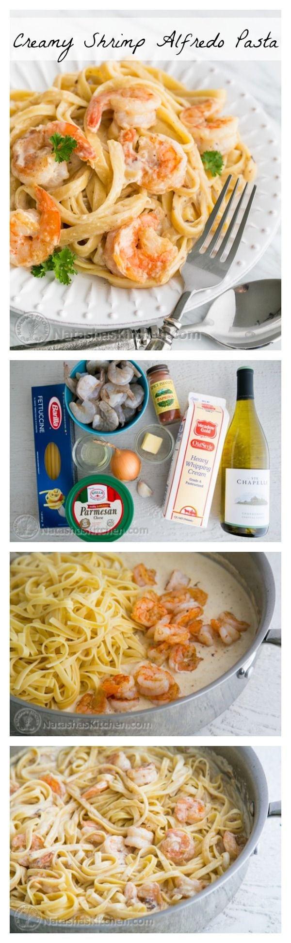 Shrimp Spaghetti Alfredo  Creamy Shrimp Alfredo Fettuccine Pasta Recipe Natasha s