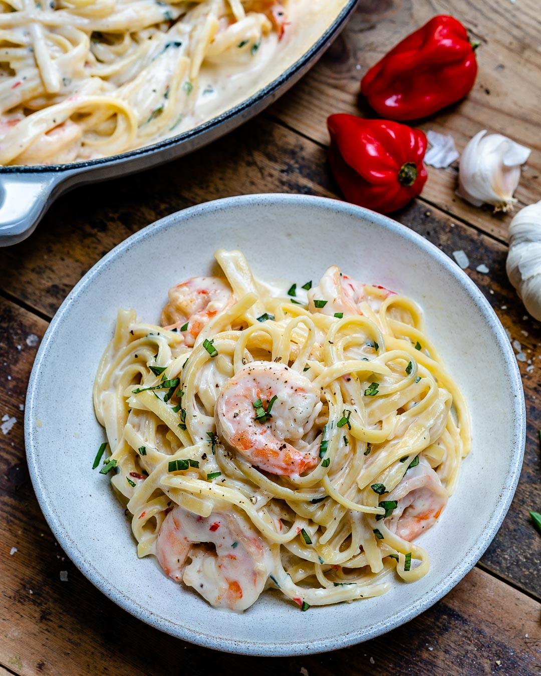Shrimp Spaghetti Alfredo  Creamy Shrimp Alfredo Pasta Recipe Video