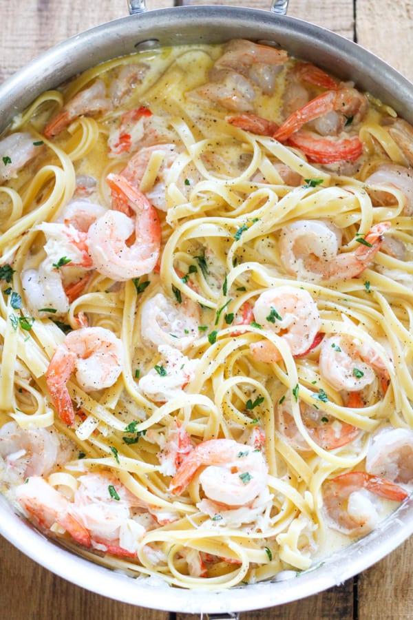 Shrimp Spaghetti Alfredo  e Pot Seafood Alfredo No 2 Pencil