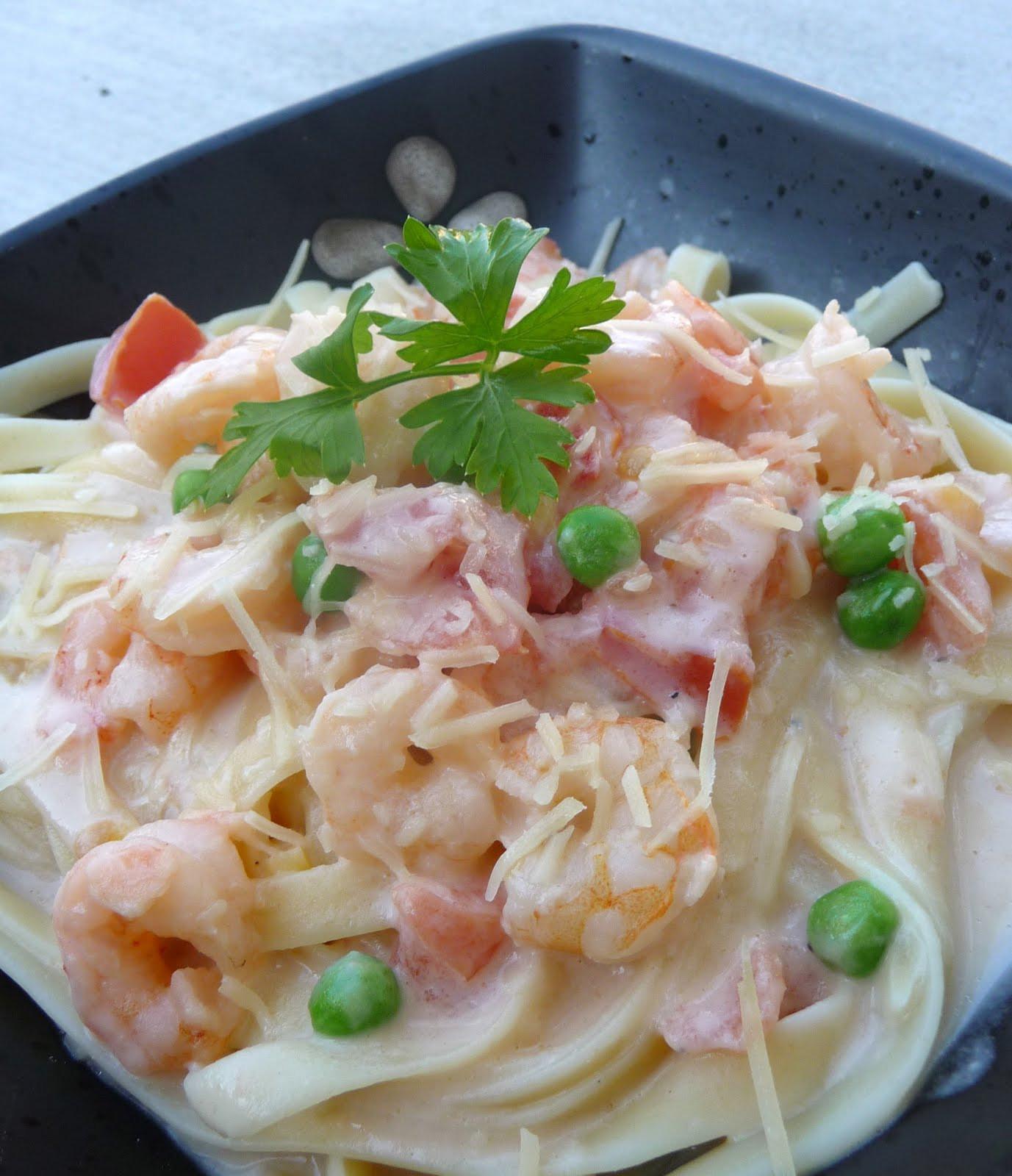 Shrimp Spaghetti Alfredo  Shrimp Pasta Alfredo Chef in Training