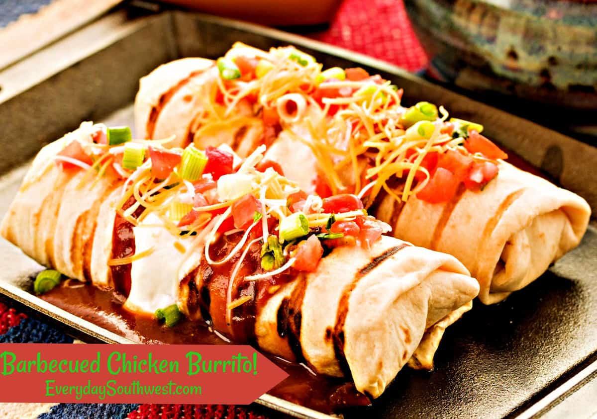 Side Dish For Burritos  BBQ Chicken Burrito Recipe Everyday Southwest