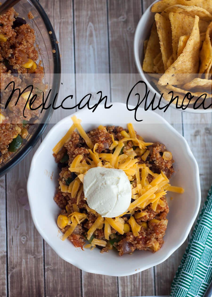 Side Dish For Burritos  Mexican Quinoa Life Sew Savory
