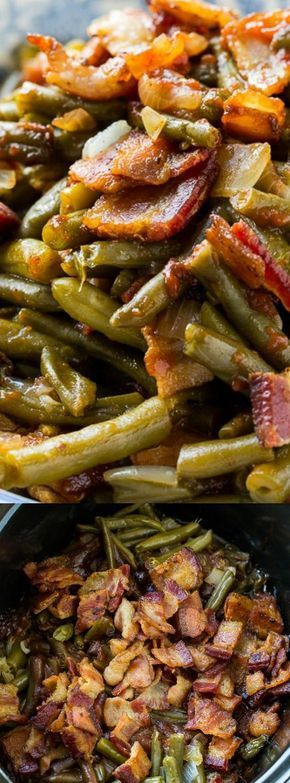 Slow Cooker Side Dishes For Bbq  Slow Cooker Barbecued Green Beans Recipe