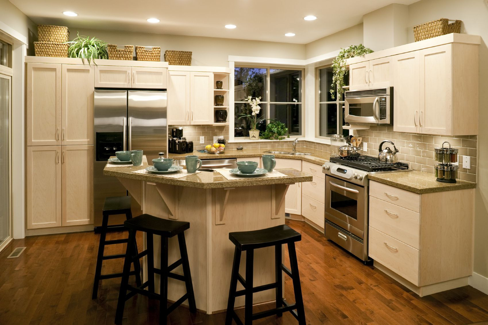 Small Kitchen With Island Ideas  Awesome Kitchen Island Designs to Realize Well Designed